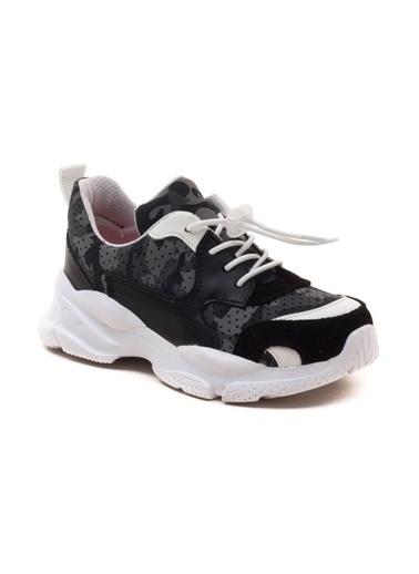 minipicco Erkek Cocuk Deri Ortopedik Destekli Spor Ayakkabı Siyah